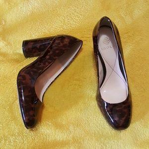 Isola tortoise brown block heels